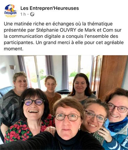 groupes de femmes de l'association Entrepren'heureuses